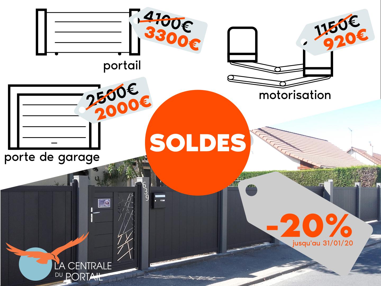 promotion portail portillon motorisation porte de garage aluminium pas cher à Rouen 76 Normandie
